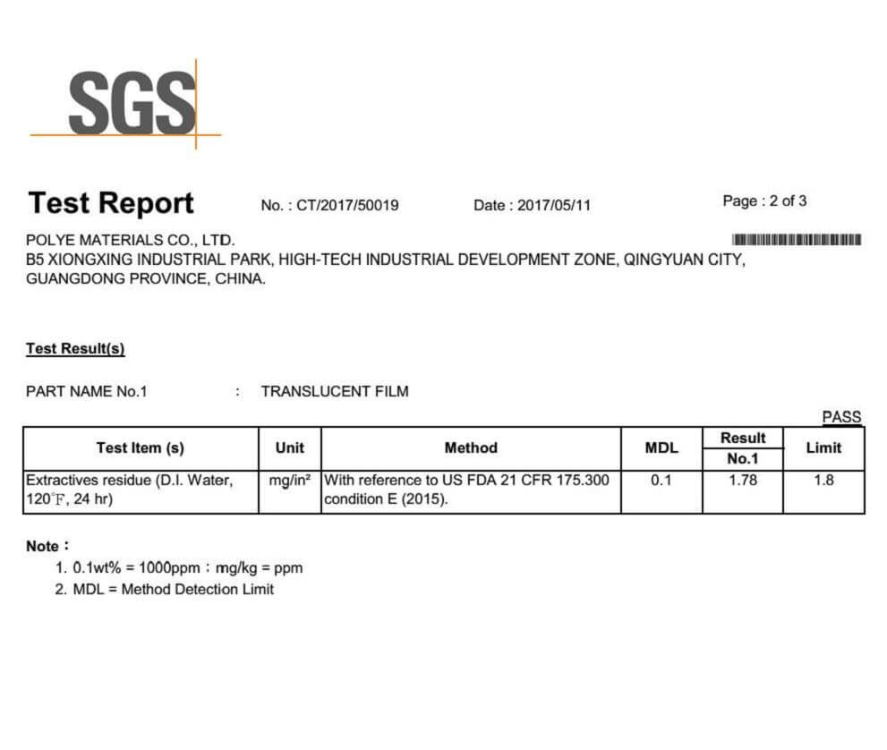 water-soluble-bag-FDA-test-report-